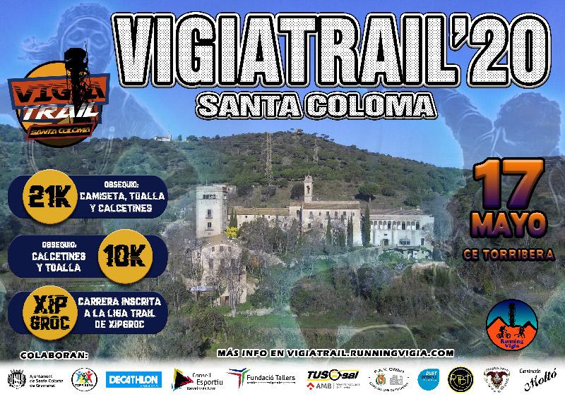 Cartel Vigía Trail 2020 - Santa Coloma - 17 de Mayo - Serralada Marina